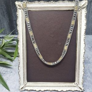 Stella & Dot | Gold & Silver Glass Beaded Necklace